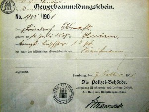 Business Registration 1901